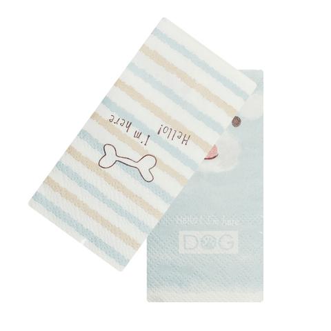 Платочки бумажные Dog Blue