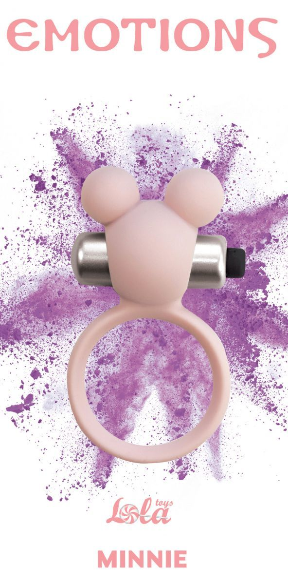 Эрекционные кольца: Розовое эрекционное виброколечко Emotions Minnie Light pink
