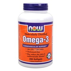 NOW	Omega-3 1000mg/200 softgels