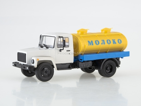GAZ-3307 G6-OTA-4,2 Tanker Milk white-yellow Our Trucks #7 (limited edition)