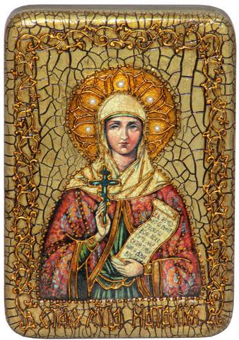 Инкрустированная Икона Святая Мученица Наталия Никомидийская 15х10см на натуральном дереве, в подарочной коробке