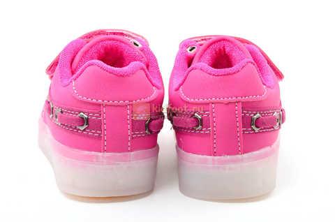 Светящиеся кроссовки с USB зарядкой Бебексия (BEIBEIXIA) для девочек цвет розовый. Изображение 8 из 15.