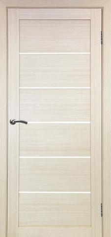 > Экошпон Optima Porte Турин 506.12, стекло матовое, цвет беленый дуб, остекленная
