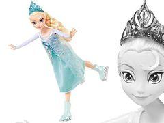 Кукла Эльза, Холодное Сердце, на коньках