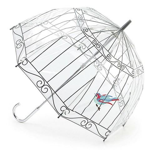 Зонт женский трость Lulu Guinness Fulton Birdcage (Птичка в клетке)