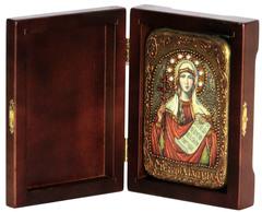Инкрустированная Икона Святая мученица Татиана 15х10см на натуральном дереве, в подарочной коробке