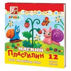 Пластилин - plastilin Luc Кроха 12 rəng