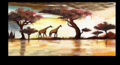 """Постер """"Два жирафа"""""""