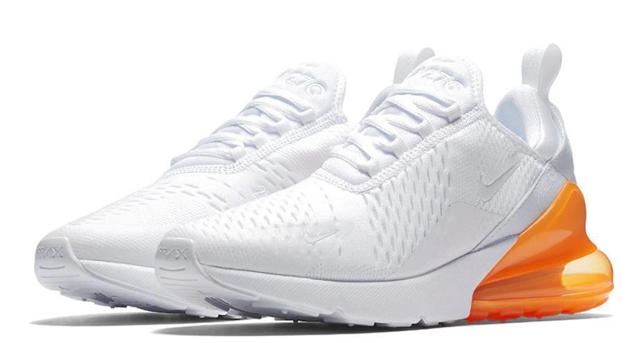 Nike Air Max 270 (White/Orange) (016)