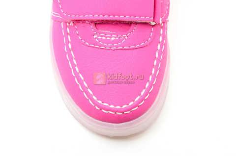 Светящиеся кроссовки с USB зарядкой Бебексия (BEIBEIXIA) для девочек цвет розовый. Изображение 10 из 15.