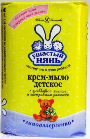 Ушастый нянь. Детское крем-мыло с оливковым маслом и экстрактом ромашки, 90 г