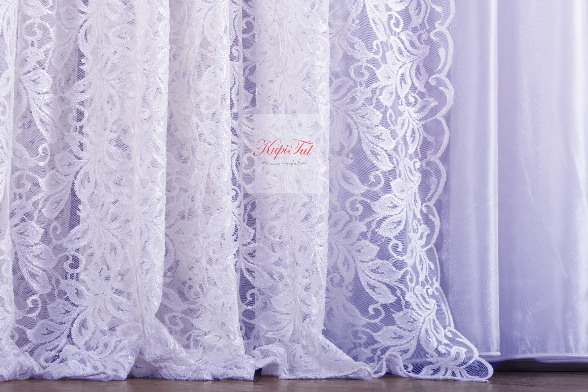 XL-Комплект гипюр+вуаль Мелани-T (белый)