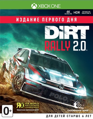 Microsoft Xbox One Dirt Rally 2.0 Издание первого дня (английская версия)