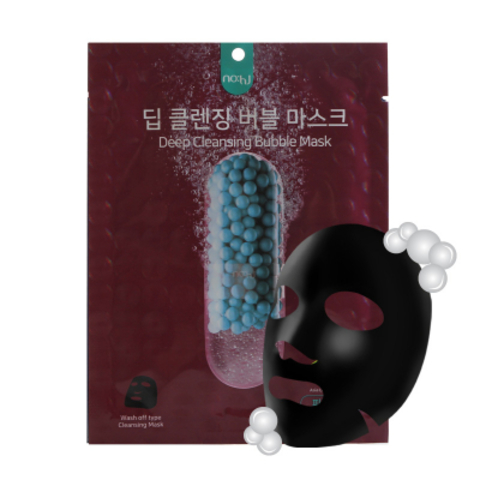 Глубокоочищающая кислородная тканевая маска с углём, 20 г / NO:HJ Deep Cleansing Bubble Mask