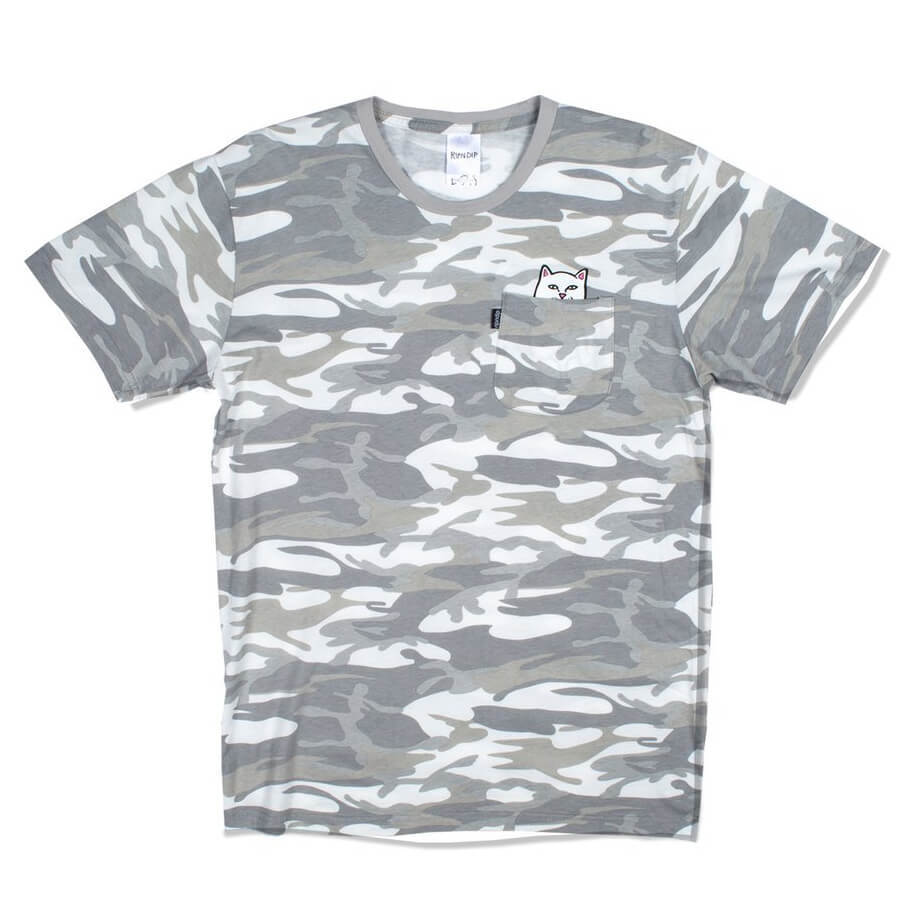 Футболка RIPNDIP Lord Nermal Pocket Tee (Grey Camo)