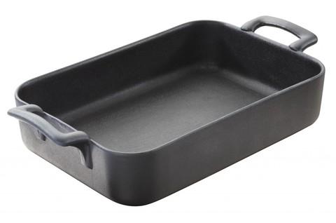 Прямоугольное фарфоровое блюдо для запекания черное, артикул 642068, серия Belle Cuisine