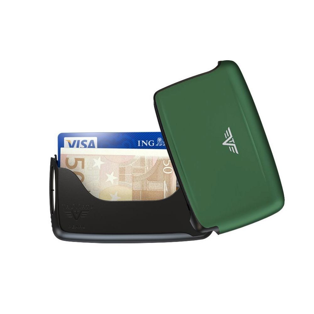 Визитница c защитой Tru Virtu PEARL, цвет зеленый , 104*67*17 мм 20.10.1.0001.13