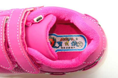 Светящиеся кроссовки с USB зарядкой Бебексия (BEIBEIXIA) для девочек цвет розовый. Изображение 12 из 15.