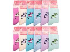 8129 носки женские 36-40, цветные (12шт)