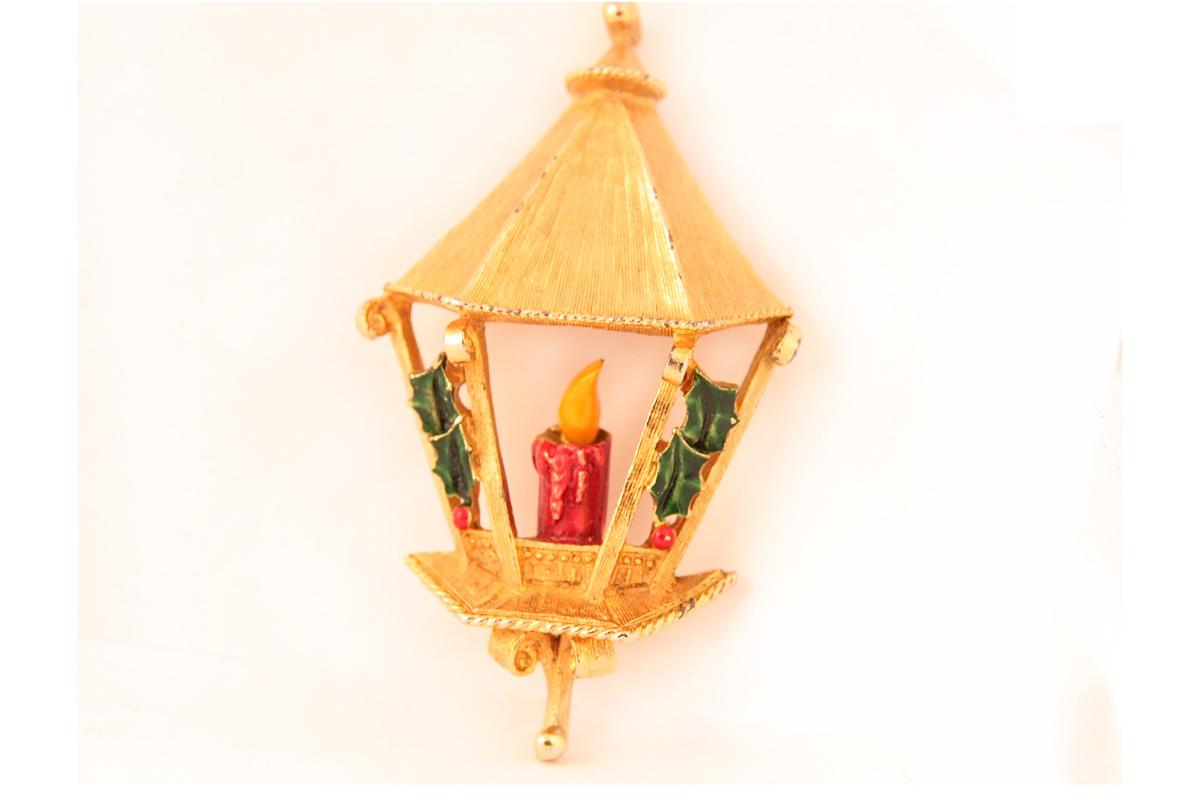 """Необычная брошь """"Рождественский фонарь"""" от Florenza"""