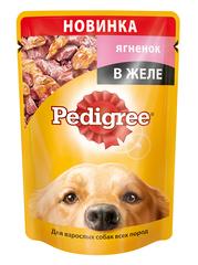 Pedigree пауч для взрослых собак с ягненком в желе 100 г