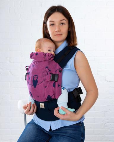 Эрго-рюкзак Мини-люкс совы фиолетовый