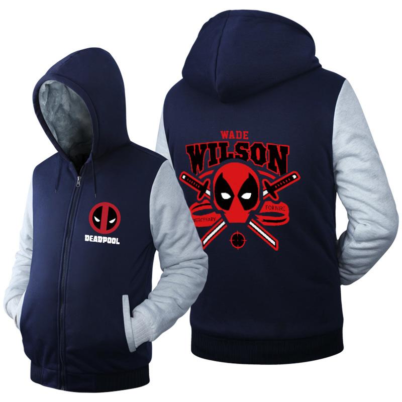 Куртка утепленная с капюшоном Дэдпул — Jacket Deadpool