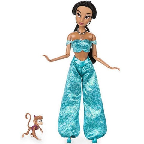 Дисней Аладдин Жасмин кукла 30 см с обезьянкой Абу