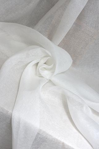 Льняная вуаль цвет БЕЛЫЙ