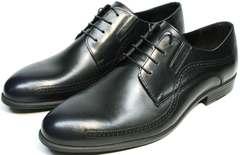 Туфли под брюки мужские дерби Ikos 3416-4 Dark Blue.