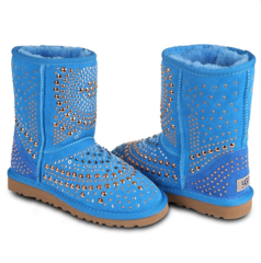UGG & Jimmy Choo Snow Boots Mandah Blue