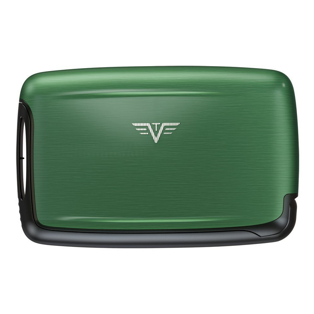 Визитница c защитой Tru Virtu PEARL, цвет зеленый , 104*67*17 мм