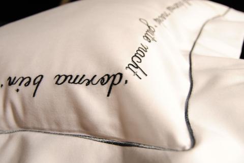 Наволочка для валика 15х40 Christian Fischbacher Luxury Nights Sweet Dreams 557 антрацит