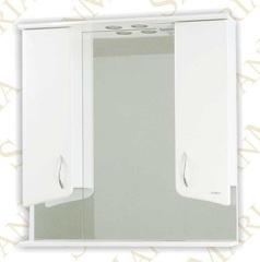 Зеркало-шкаф SanMaria Эрика-80 короткое