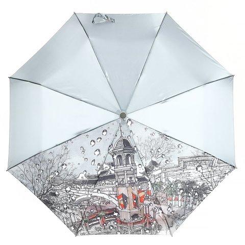 Зонт женский, город с каплями, Planet PL-154-5