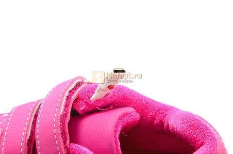 Светящиеся кроссовки с USB зарядкой Бебексия (BEIBEIXIA) для девочек цвет розовый. Изображение 14 из 15.
