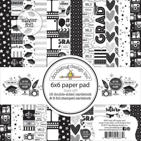 Набор бумаги Hats Off от Doodlebug - 15х15 см -24 л