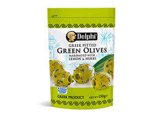 Оливки без косточки маринованные с лимоном Delphi, 150г