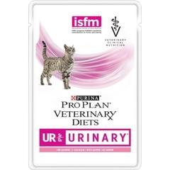 Влажный корм для кошек, Purina Pro Plan Veterinary Diets FELINE UR, при заболеваниях нижних отделов мочевыводящих путей, с лососем