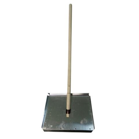 Лопата снеговая оцинк. 460х300мм, 0,8мм, с планкой, с дер.чер. (ЛО-3)