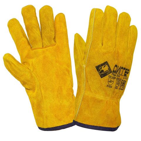Перчатки ДИГГЕР цельноспилковые желтые утепленные (Размер 10,5)