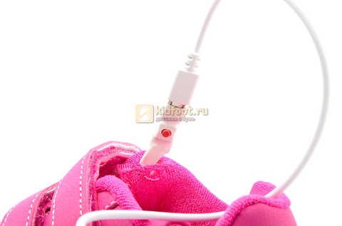 Светящиеся кроссовки с USB зарядкой Бебексия (BEIBEIXIA) для девочек цвет розовый. Изображение 15 из 15.