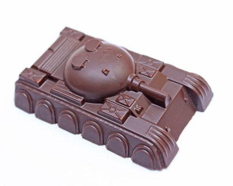 Форма для шоколада Танк