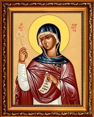 Маргарита (Марина) Антиохийская  Святая великомученица. Икона на холсте.