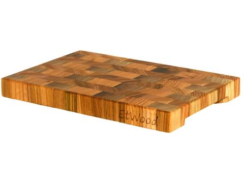 деревянная  Торцевая разделочная доска 30x20x3 см. карагач (вяз)