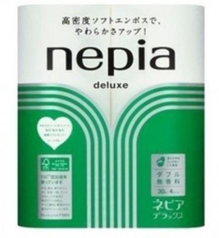 Бумага туалетная двухслойная, NEPIA, Premium Soft, без аромата 30 м, 4 рулона