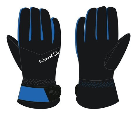 Nordski Arctic Membrane перчатки black/blue