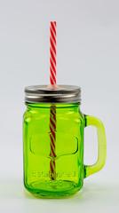 Баночка для смузи и коктейлей, зеленая
