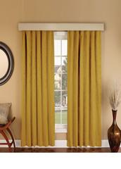 Длинные шторы. Suede (темно-желтый).  Имитация замши