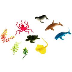 Игровой набор «Морские обитатели», 9 фигурок